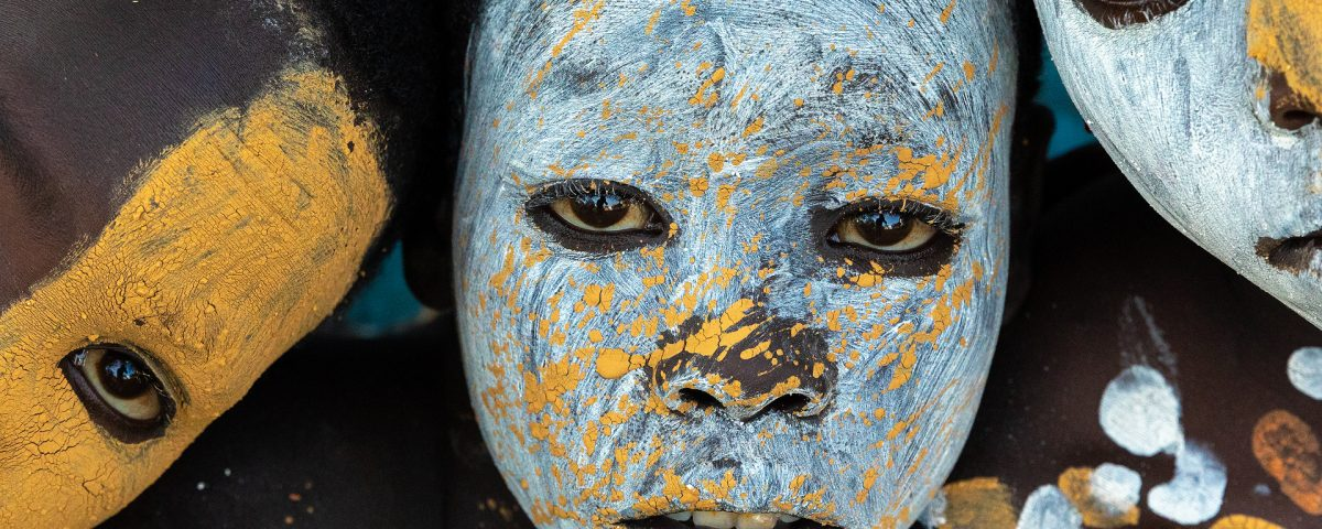 Suri boys with face paint, Omo Valley, Ethiopia
