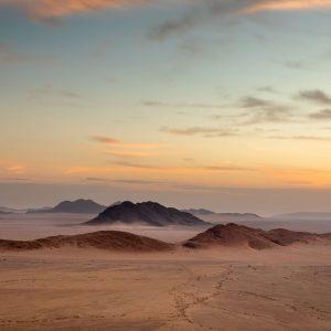 Landscape of desert mountains in the Namib, Namibia